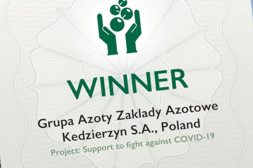 Grupa Azoty ZAK S.A zdobyła prestiżową nagrodę!