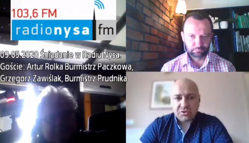 09.05.2020 - Gośćmi Śniadania w Radiu Nysa byli Artur Rolka i Grzegorz Zawiślak