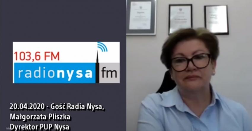 21.05.2020 - Gościem Dnia Radia Nysa była Małgorzata Pliszka